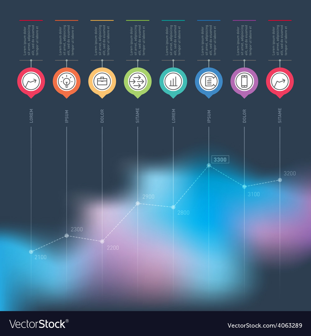 Business chart graph or presentation infographics vector | Price: 1 Credit (USD $1)