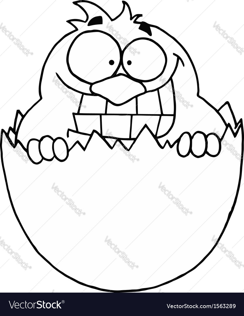 Cartoon egg hatching vector | Price: 1 Credit (USD $1)