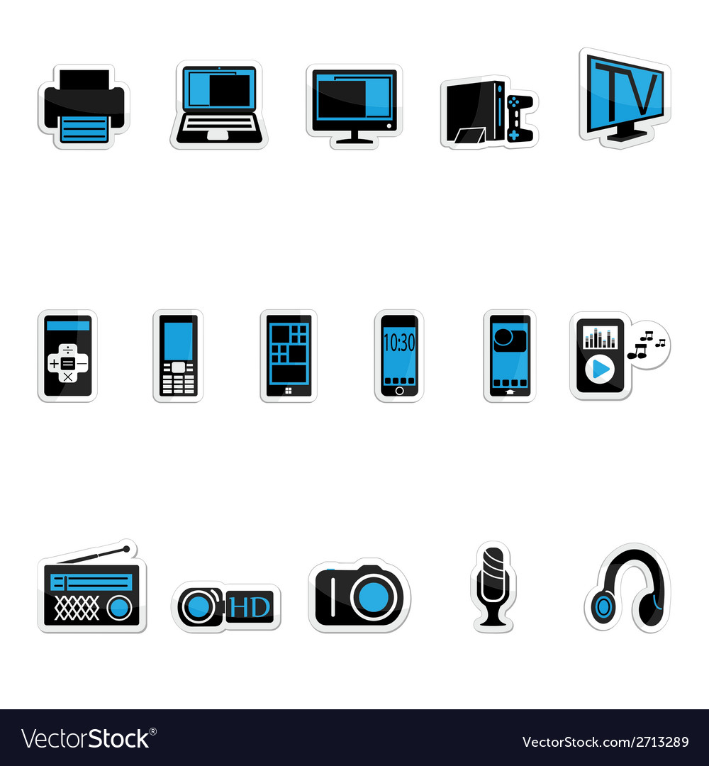 Consumer electronics icon vector | Price: 1 Credit (USD $1)