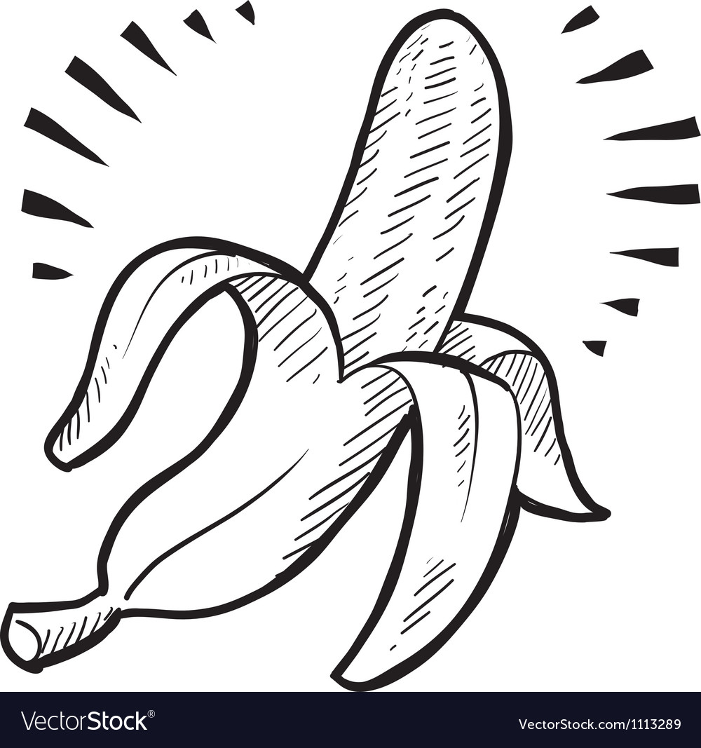 Doodle banana vector | Price: 1 Credit (USD $1)
