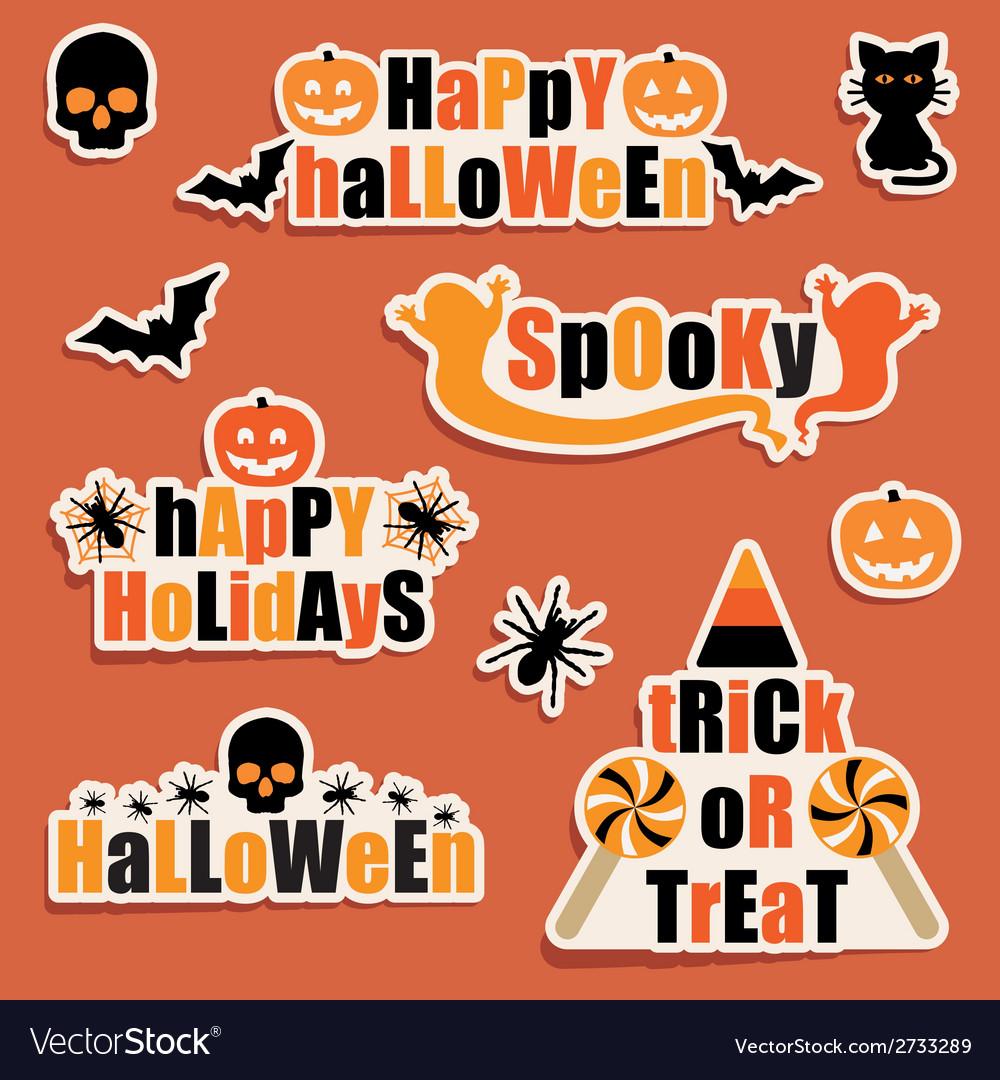 Halloween labels vector | Price: 1 Credit (USD $1)