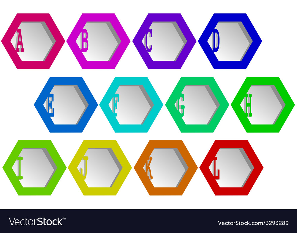 Hexagons vector | Price: 1 Credit (USD $1)