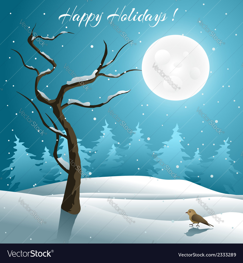 Holiday greeting card vector | Price: 1 Credit (USD $1)