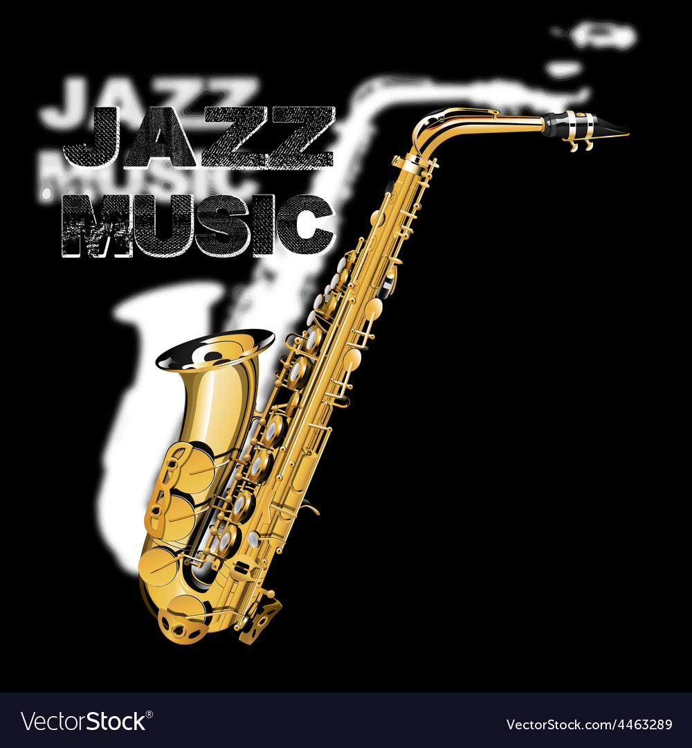 Jazz music on a black and white background vector | Price: 3 Credit (USD $3)