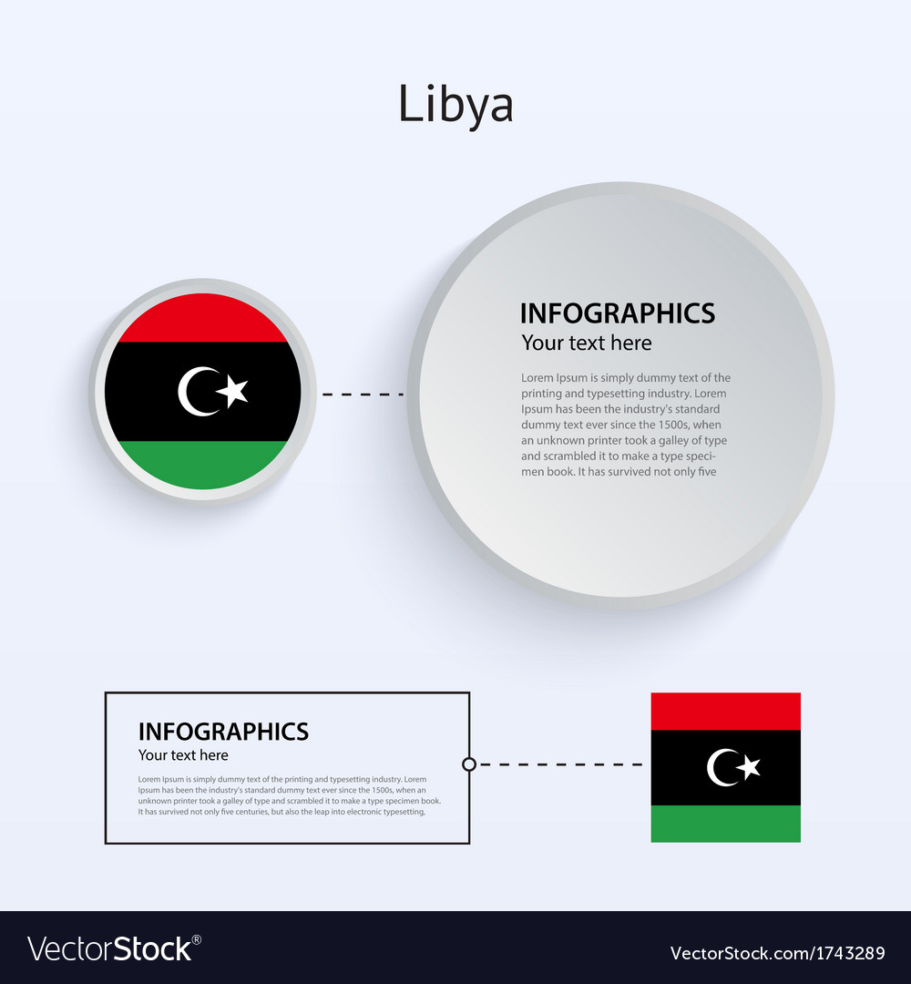 Libya country set of banners vector | Price: 1 Credit (USD $1)