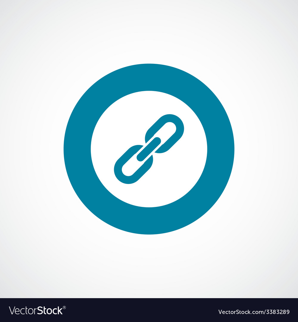 Link bold blue border circle icon vector | Price: 1 Credit (USD $1)