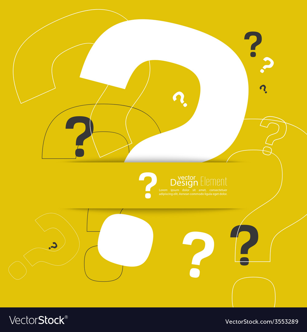 Question mark icon vector | Price: 1 Credit (USD $1)