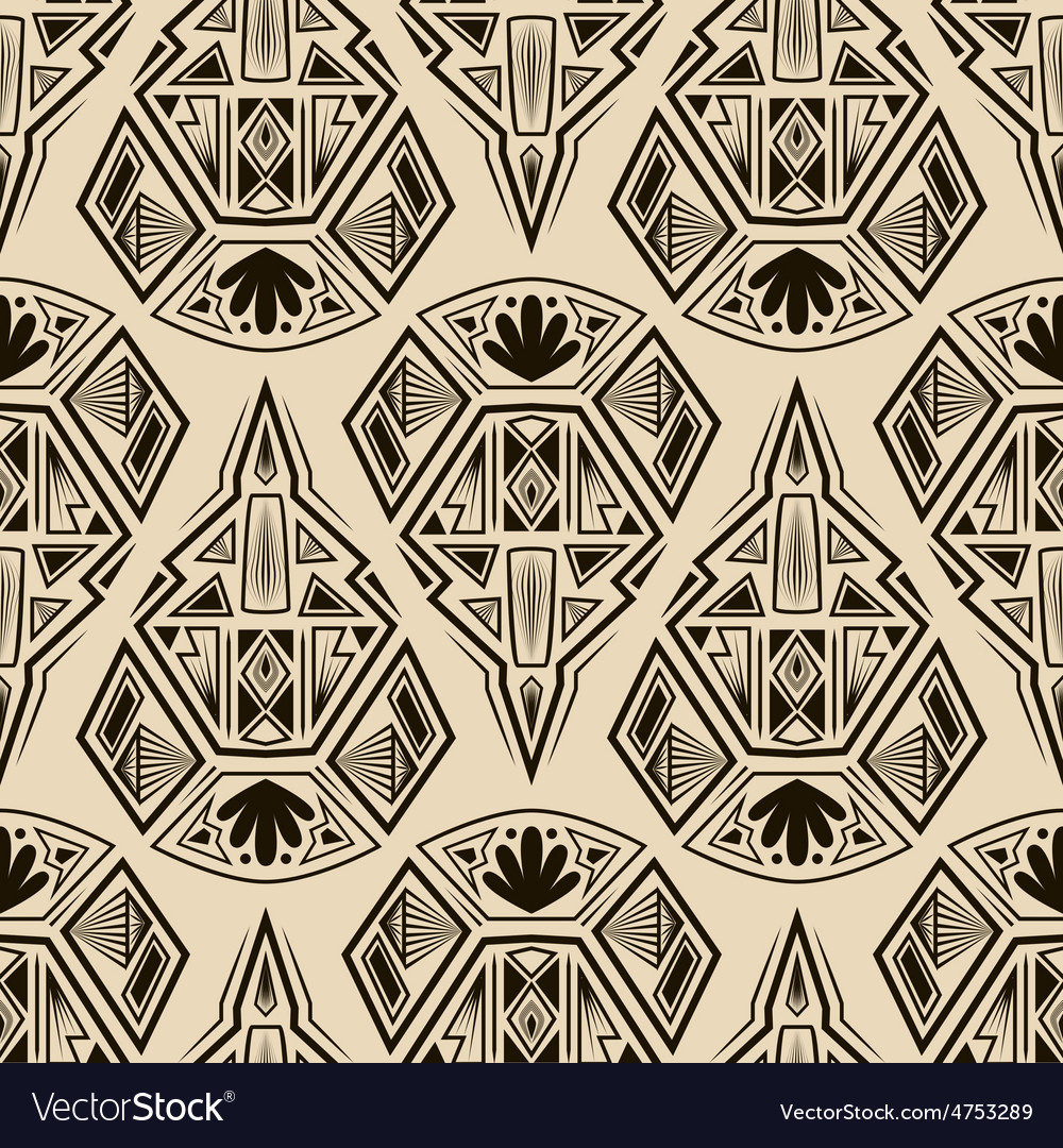 Seamless antique art deco pattern ornament vector | Price: 1 Credit (USD $1)
