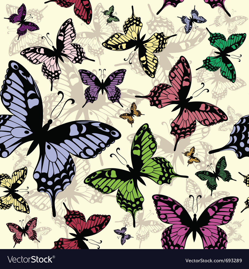Seamless butterflies vector | Price: 1 Credit (USD $1)