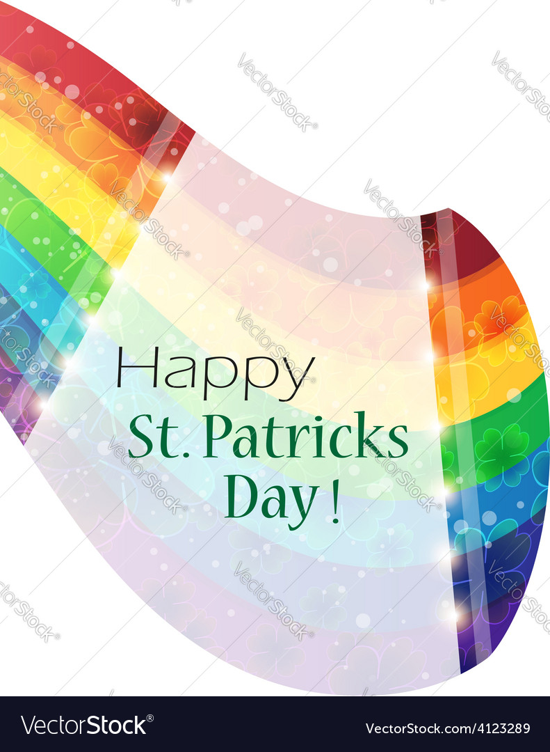 St patricks day rainbow vector | Price: 3 Credit (USD $3)