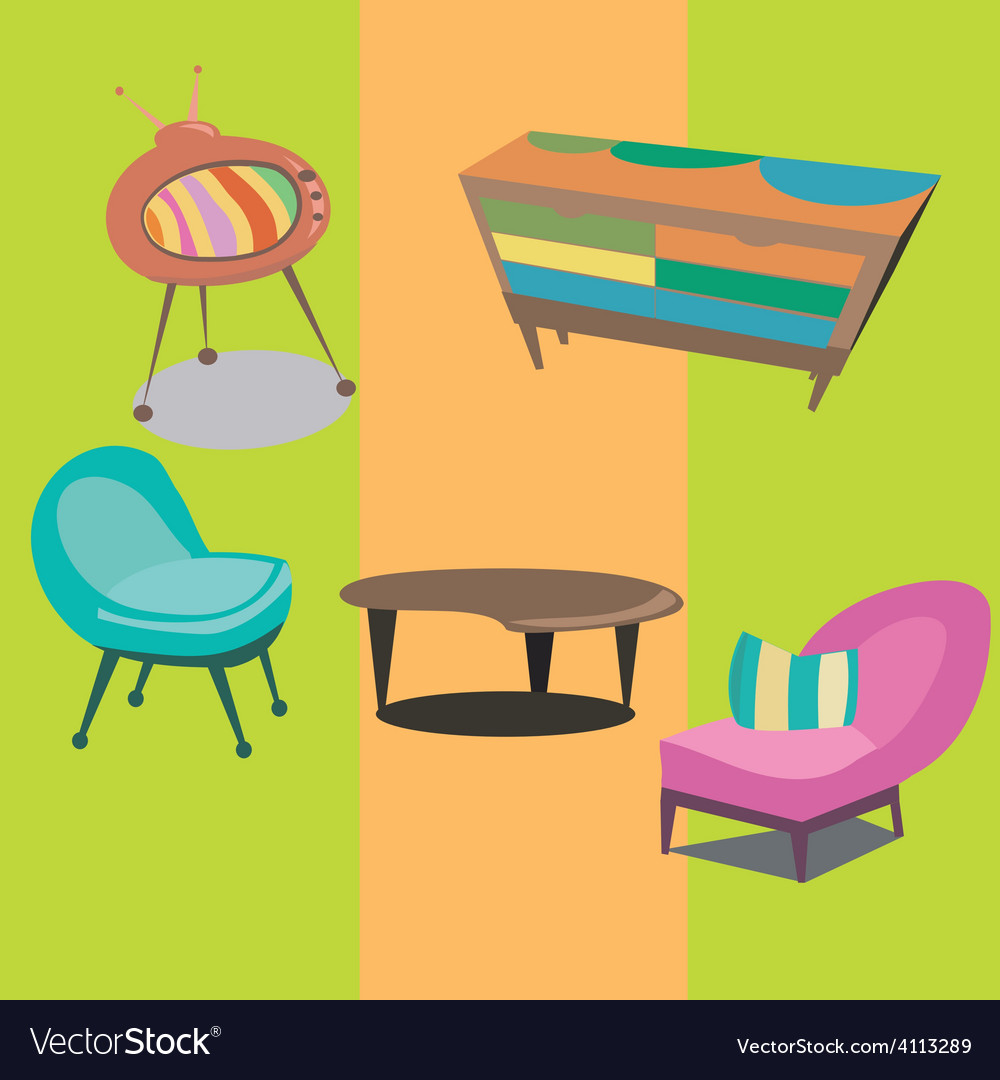 Styled modern furniture vector | Price: 1 Credit (USD $1)