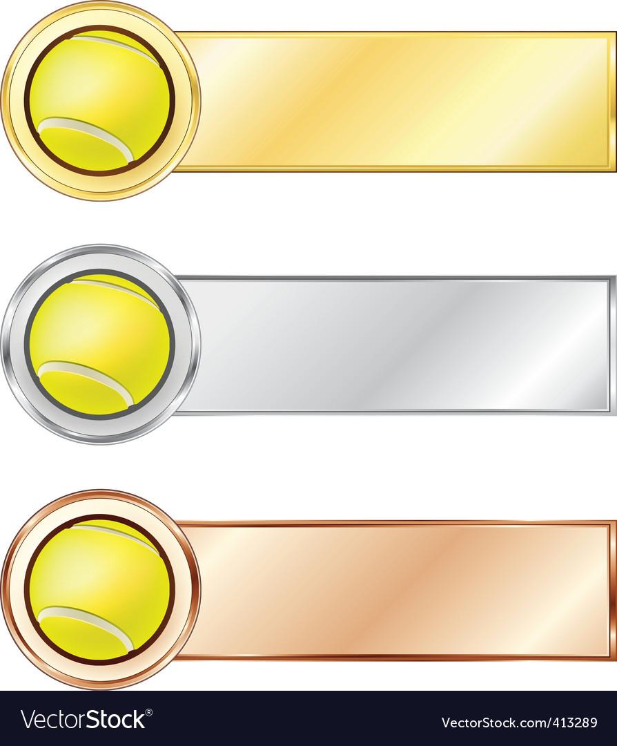 Tennis medals vector | Price: 1 Credit (USD $1)