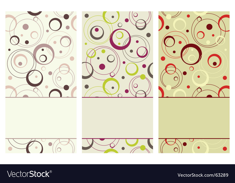 Vertical retro banner vector | Price: 1 Credit (USD $1)