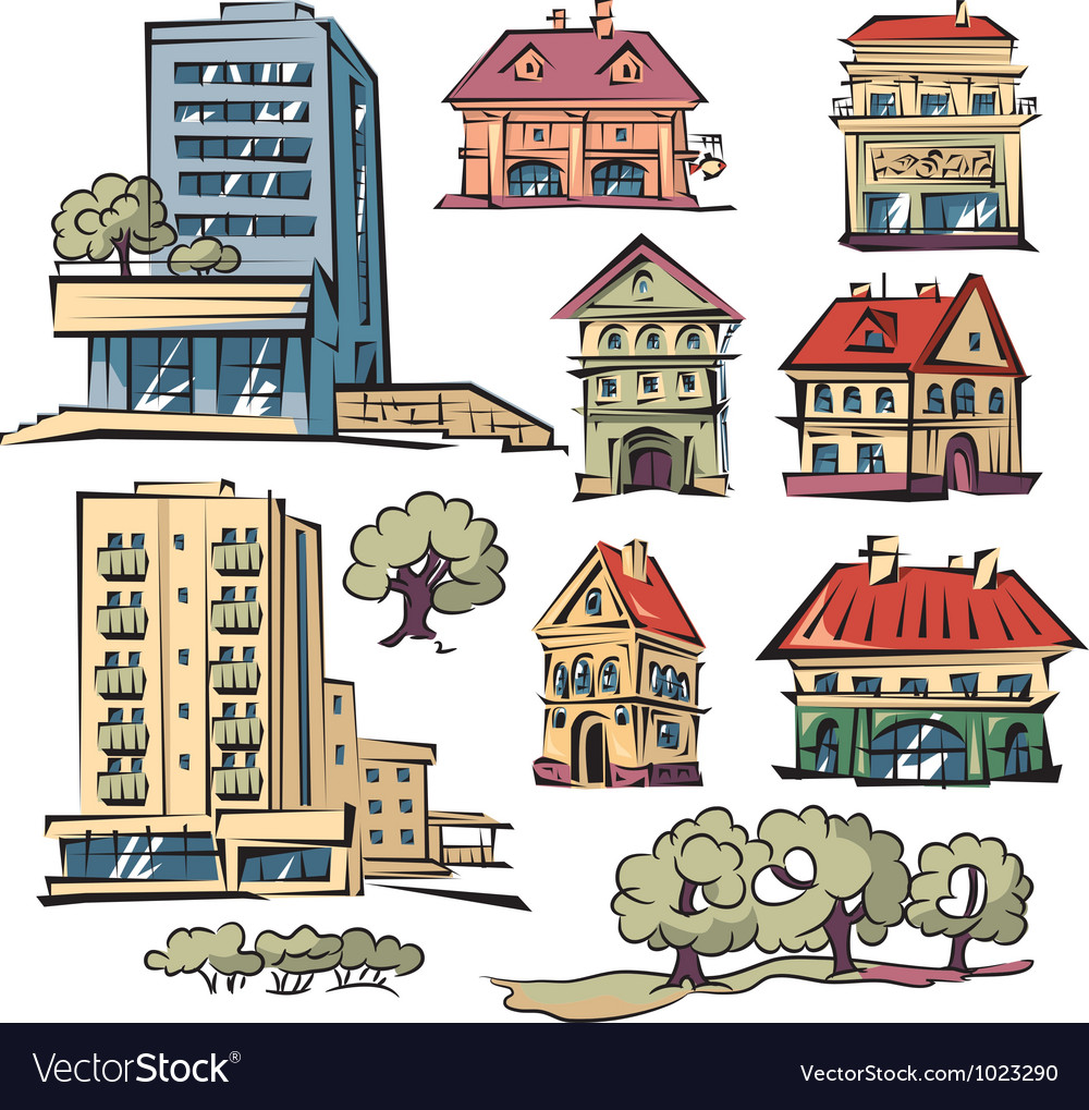 Apartment houses vector | Price: 3 Credit (USD $3)