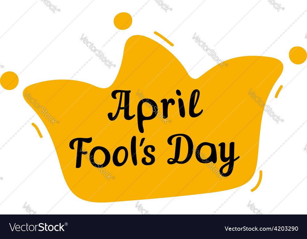April fools day design with jester hat and text vector | Price: 1 Credit (USD $1)