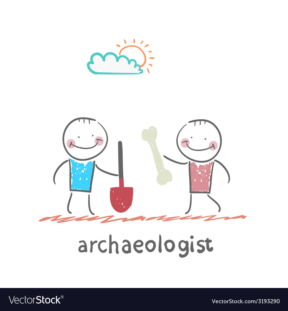 Archaeologist holding a shovel and another vector | Price: 1 Credit (USD $1)