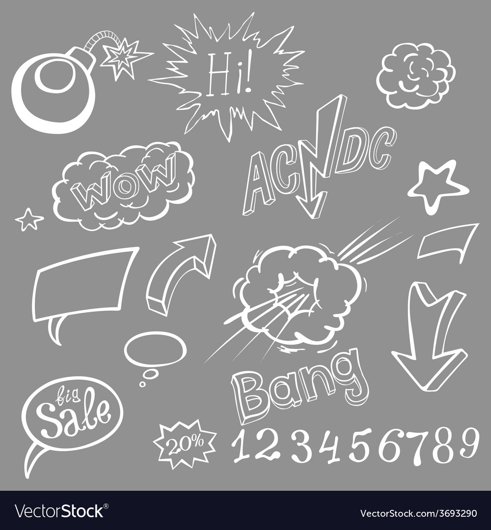 Bomb explosion comic style templates vector | Price: 1 Credit (USD $1)