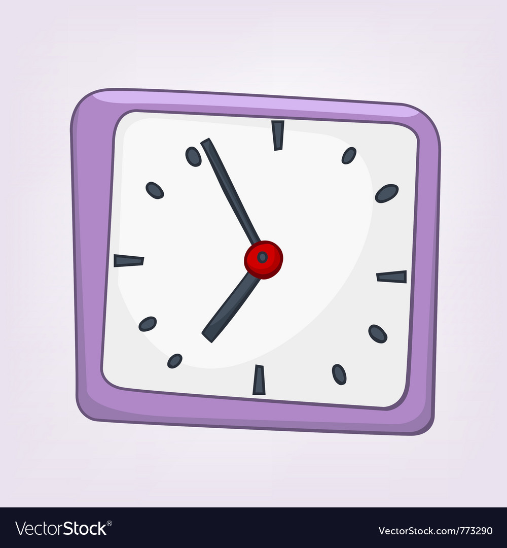 Cartoon home clock vector | Price: 1 Credit (USD $1)