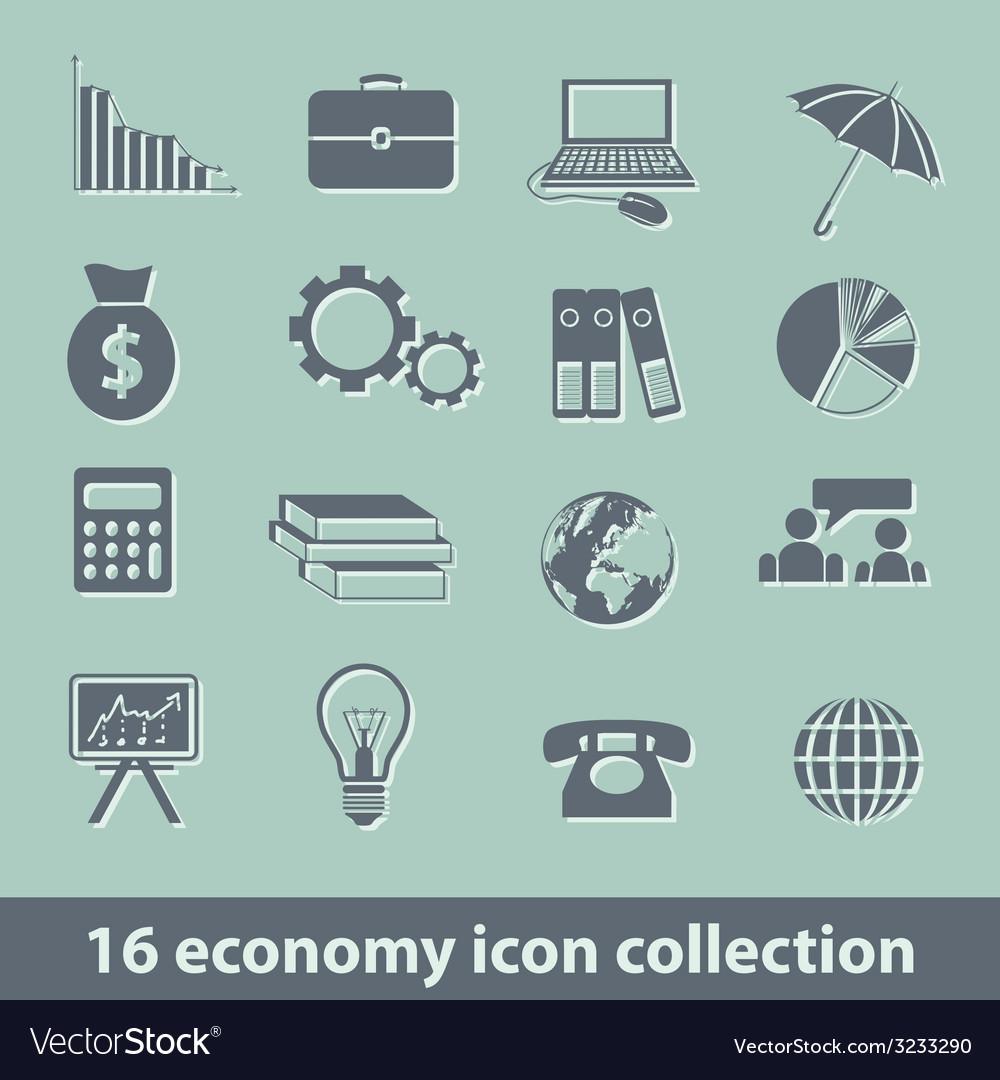 Economy icons vector | Price: 1 Credit (USD $1)
