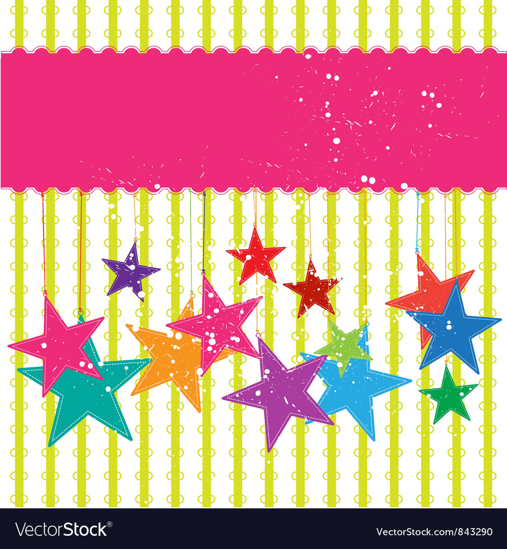 Festival star background vector | Price: 1 Credit (USD $1)