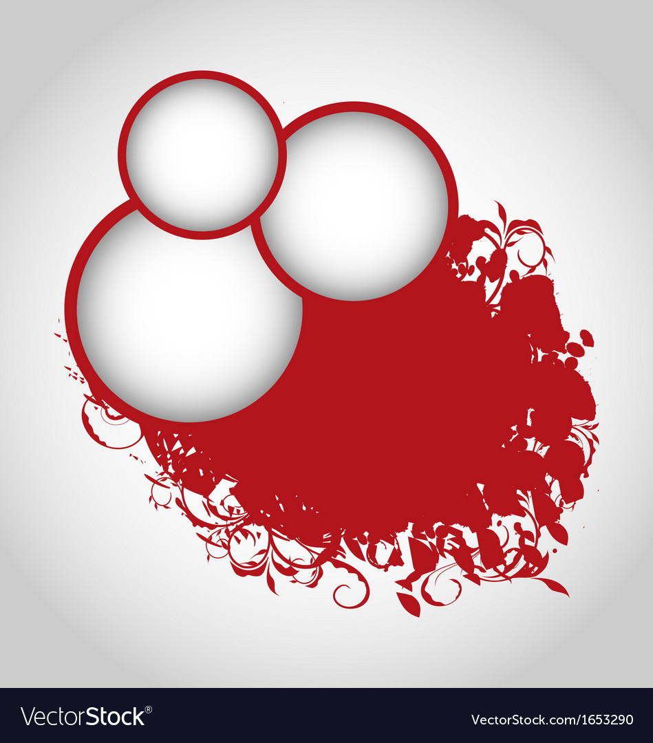 Grunge background with red circles vector | Price: 1 Credit (USD $1)
