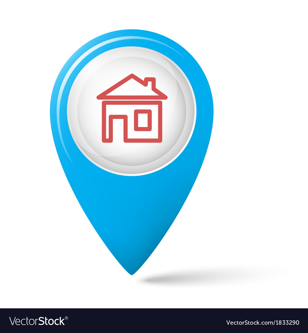 The house symbol on the map index vector   Price: 1 Credit (USD $1)