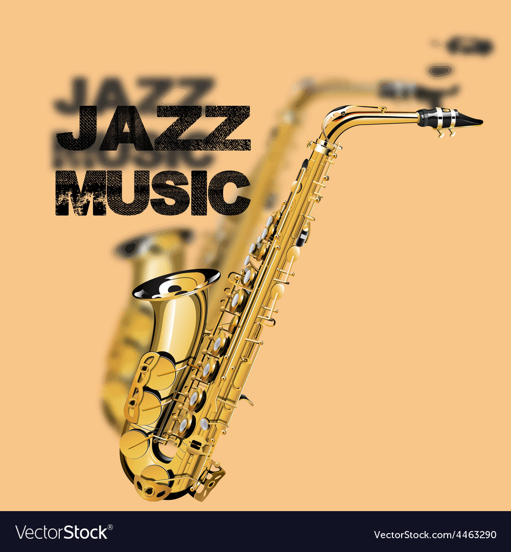 Jazz music on a beige background vector | Price: 3 Credit (USD $3)