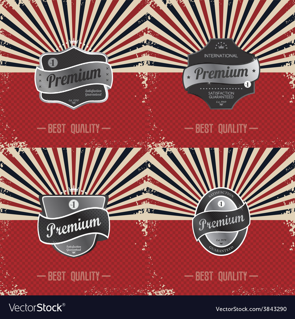 Premium label vintage quality badge theme vector | Price: 1 Credit (USD $1)