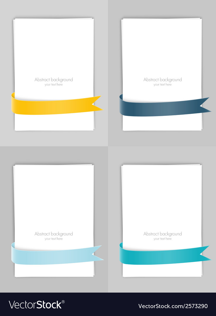 Set of banners with ribbons vector | Price: 1 Credit (USD $1)
