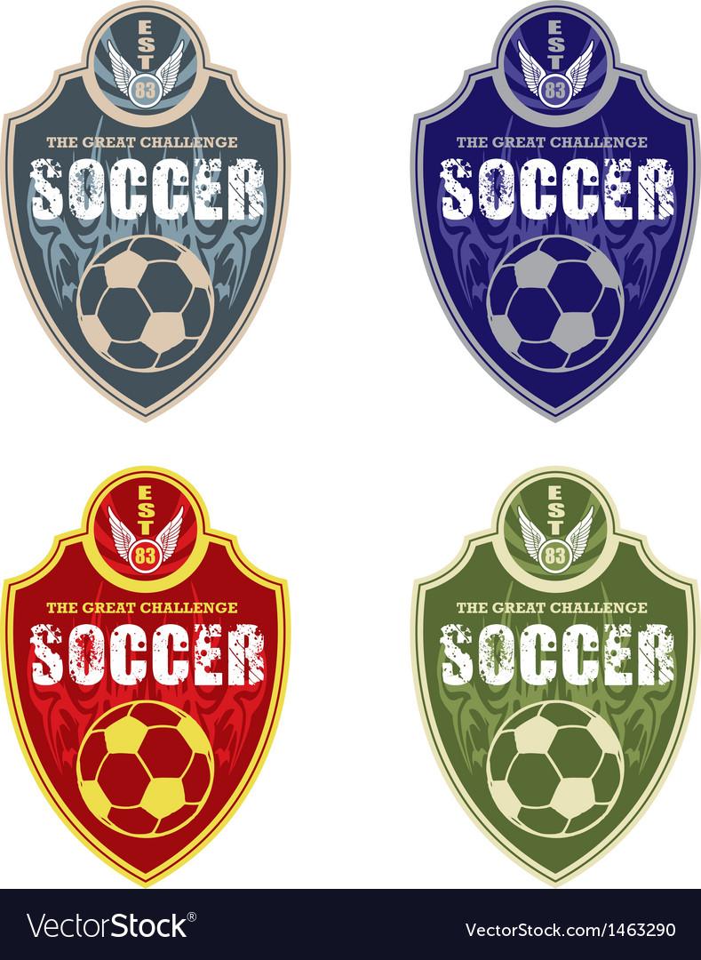 Soccer badge vector | Price: 1 Credit (USD $1)