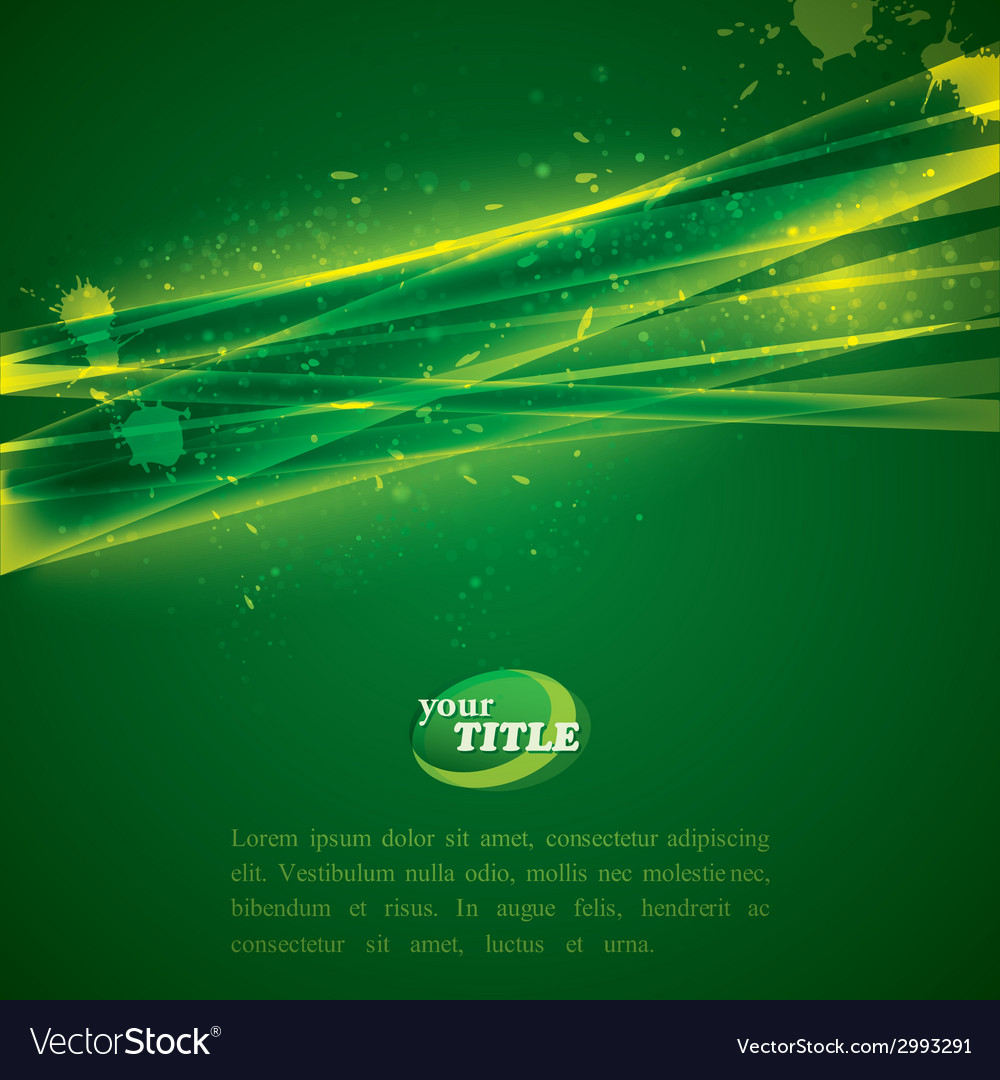Abstract green background with shiny sparkles vector | Price: 1 Credit (USD $1)