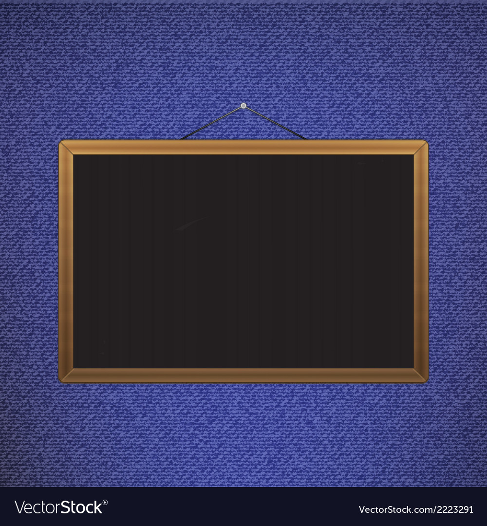 Black chalkboard with brown corners over jeans vector | Price: 1 Credit (USD $1)
