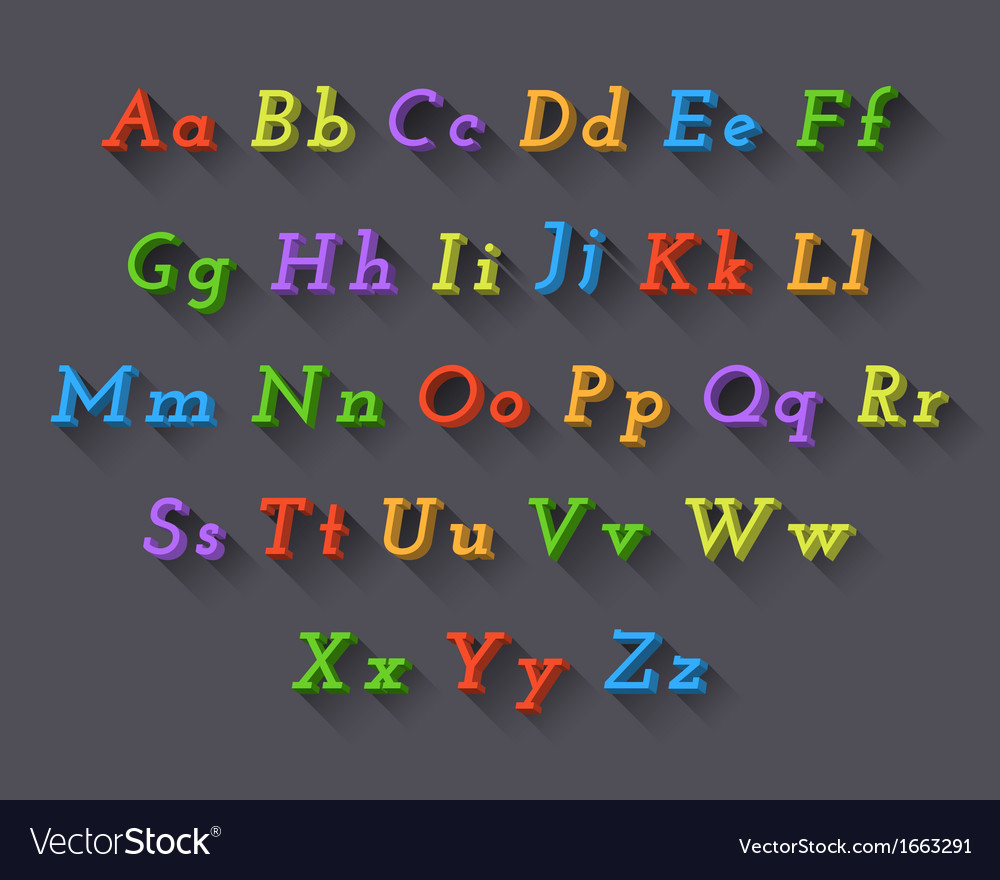 Colorful font vector   Price: 1 Credit (USD $1)