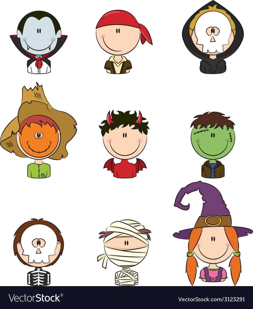 Halloween avatars vector | Price: 1 Credit (USD $1)
