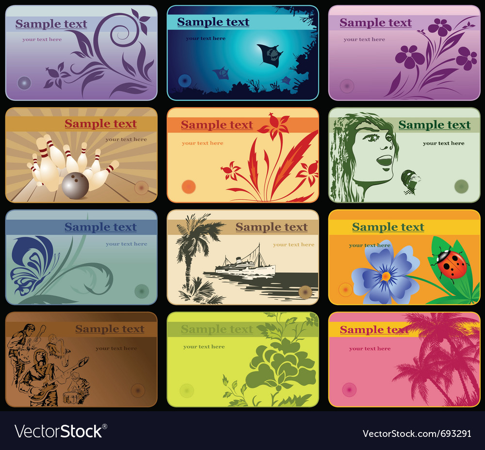 Horizontal business cards vector   Price: 1 Credit (USD $1)