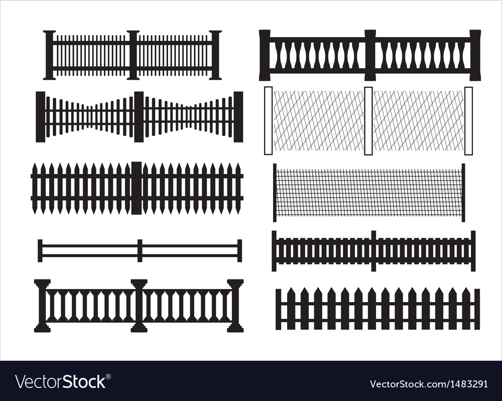 Icons of different kinds of fence vector | Price: 1 Credit (USD $1)