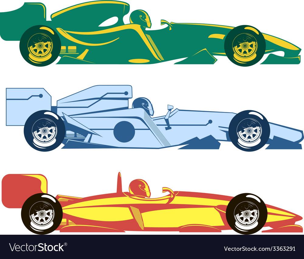 Racing cars vector | Price: 1 Credit (USD $1)