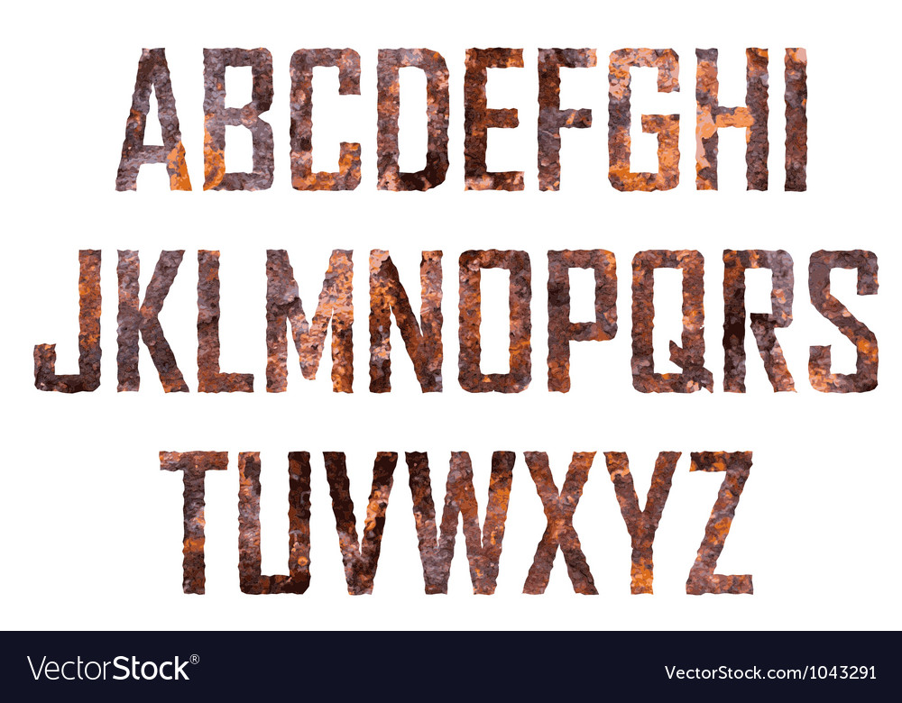 Rusted big letters vector | Price: 1 Credit (USD $1)