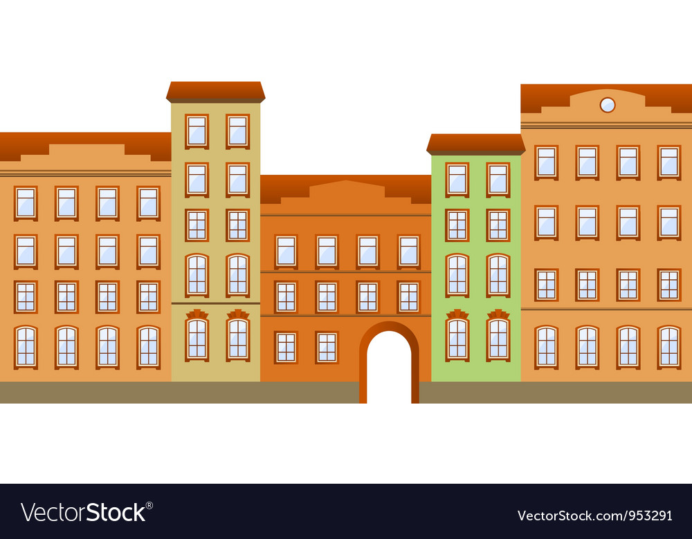 Street building vector | Price: 1 Credit (USD $1)