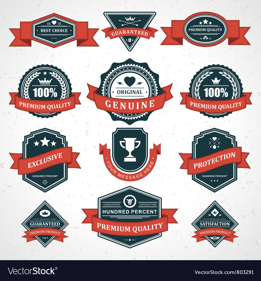 Vintage labels and ribbon vector | Price: 1 Credit (USD $1)