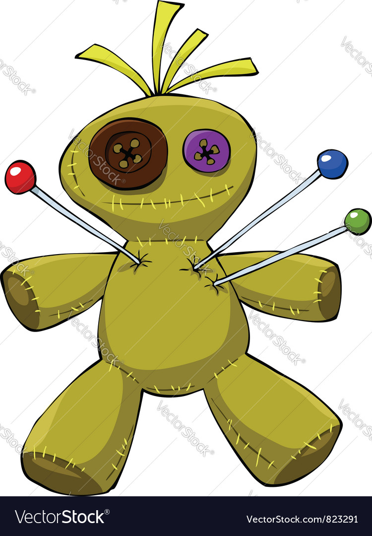 Voodoo doll vector | Price: 3 Credit (USD $3)