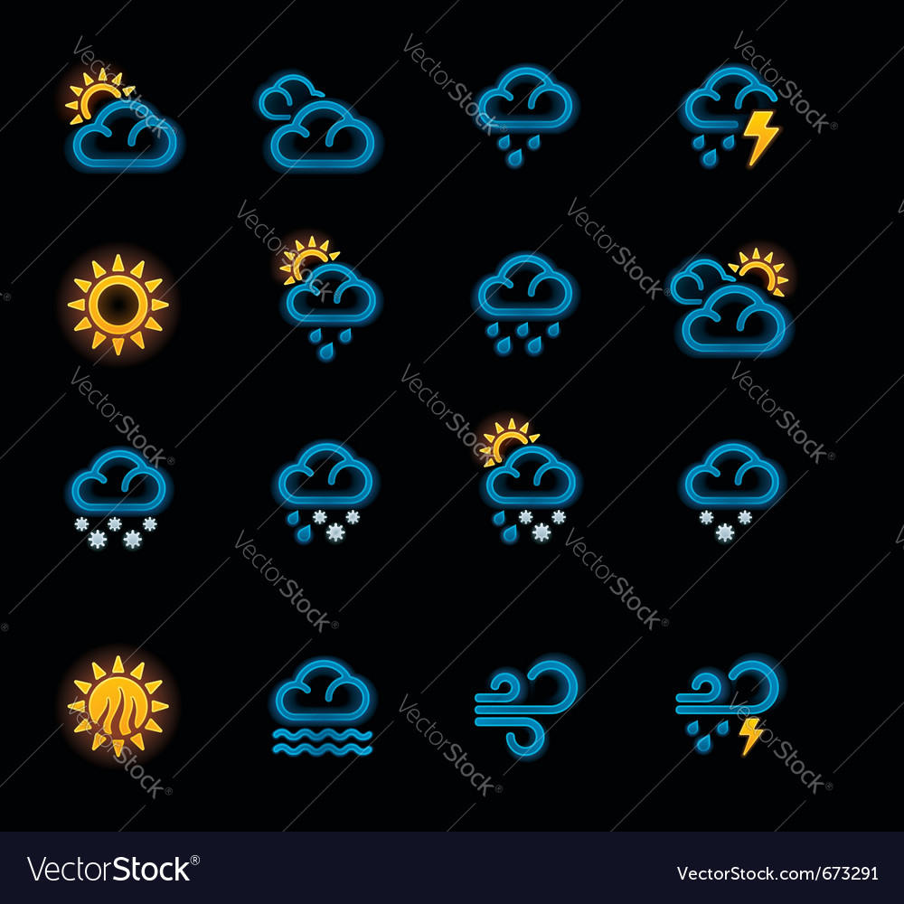 Weather forecast icons - day vector | Price: 1 Credit (USD $1)