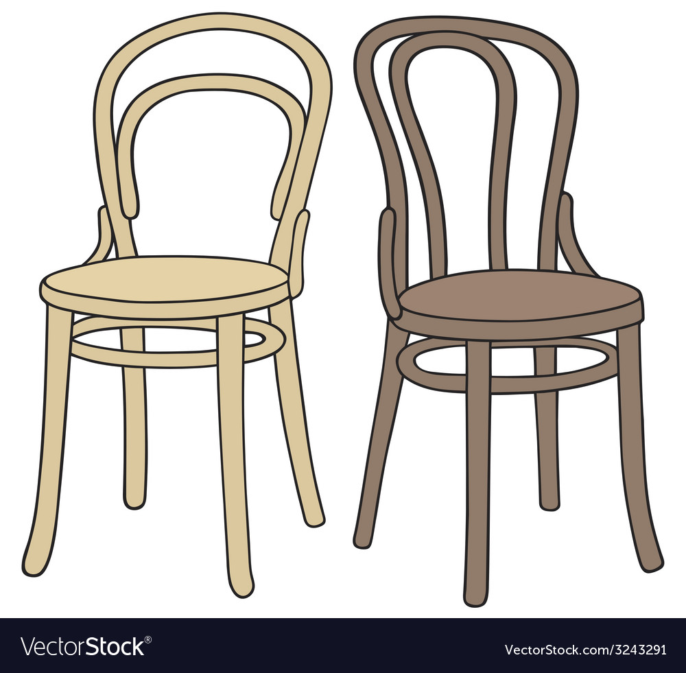 Wooden chairs vector | Price: 1 Credit (USD $1)