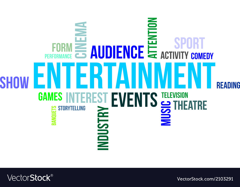 Word cloud entertainment vector | Price: 1 Credit (USD $1)