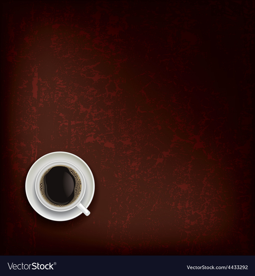 Abstract grunge brown background with coffee cup vector | Price: 1 Credit (USD $1)