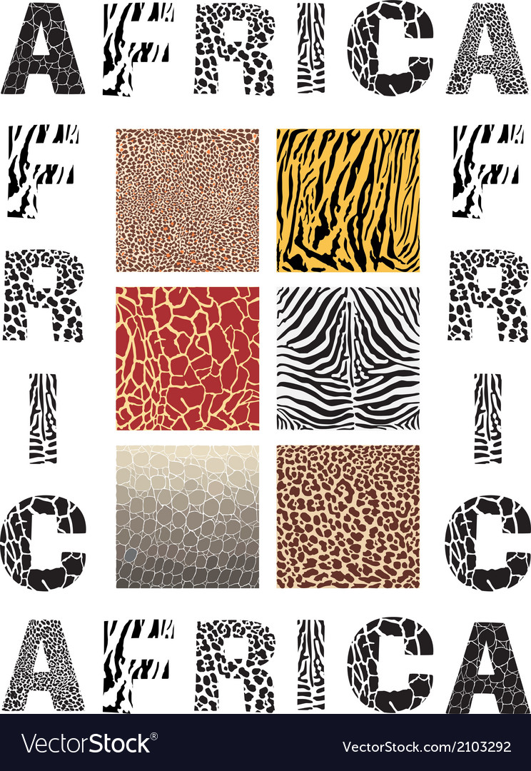 Africa background with text and texture wild vector | Price: 1 Credit (USD $1)