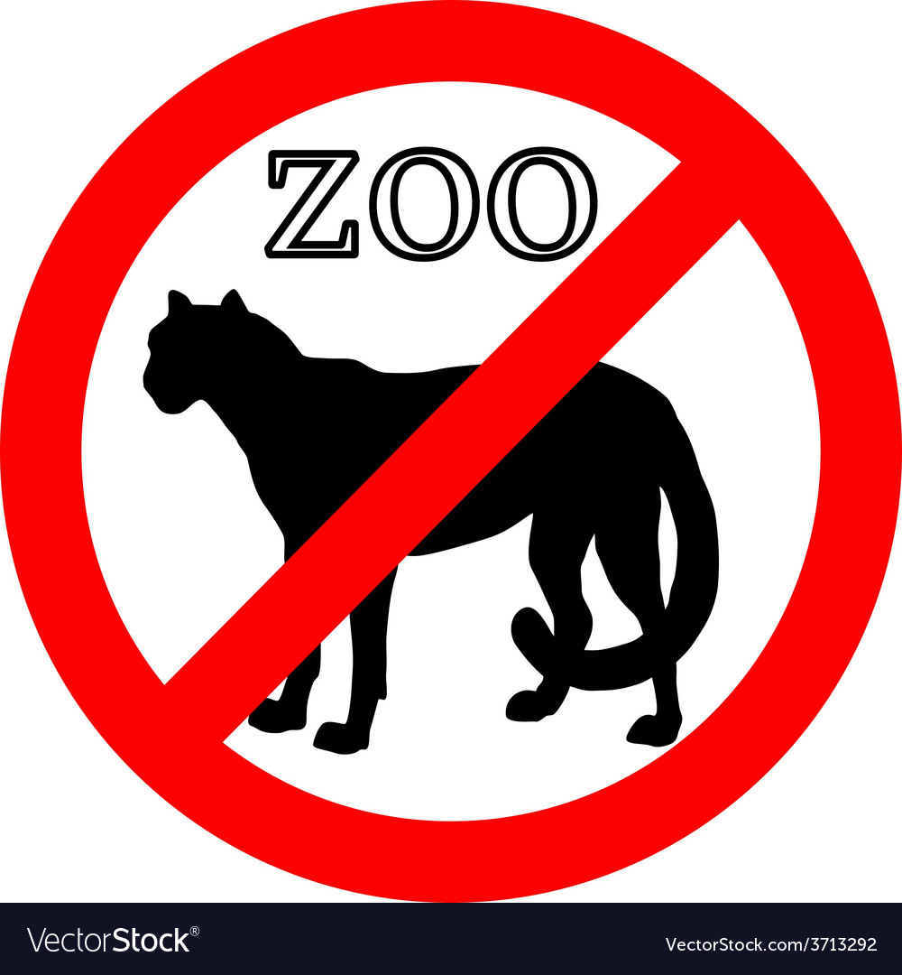 Cheetah in zoo prohibited vector | Price: 1 Credit (USD $1)