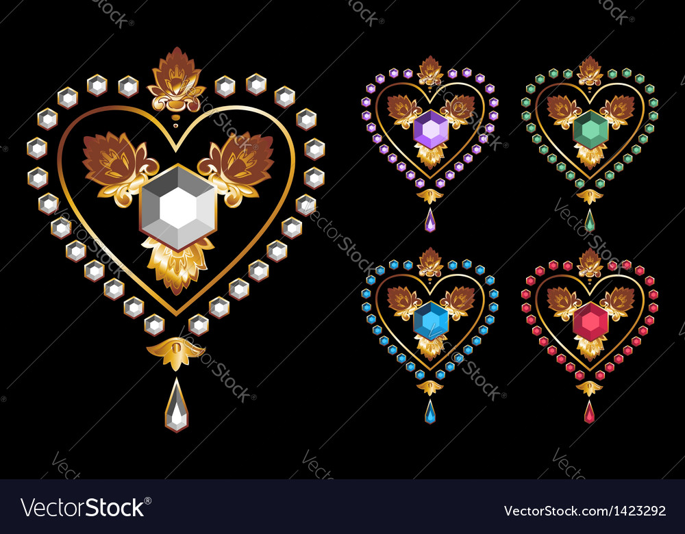 Diamond hearts love vector   Price: 1 Credit (USD $1)