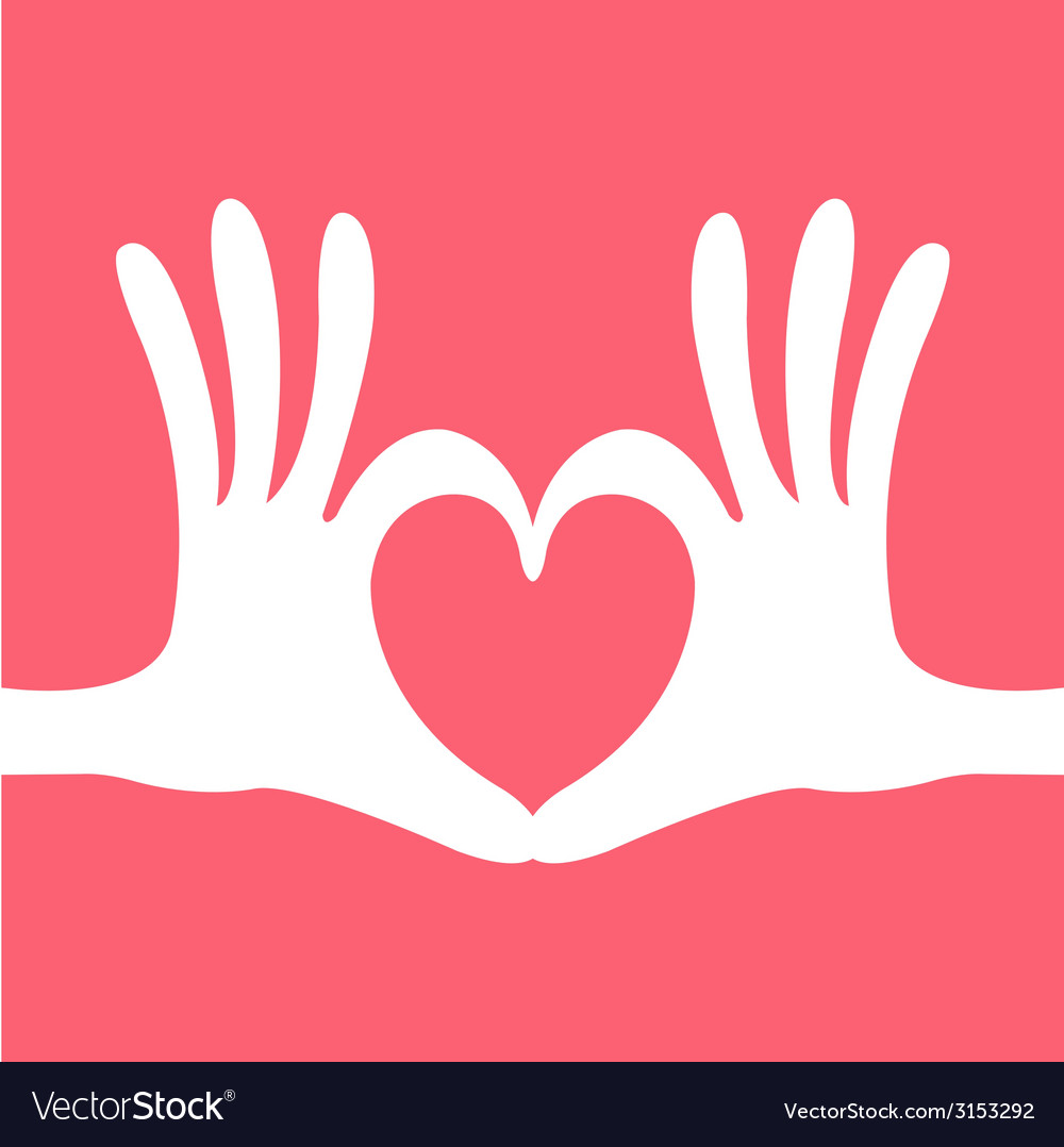 Hand heart gesture vector | Price: 1 Credit (USD $1)