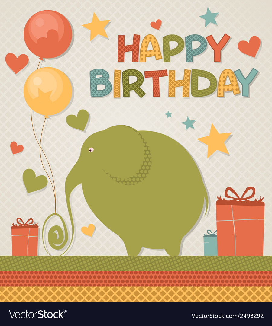 Happy birthday card vector | Price: 1 Credit (USD $1)